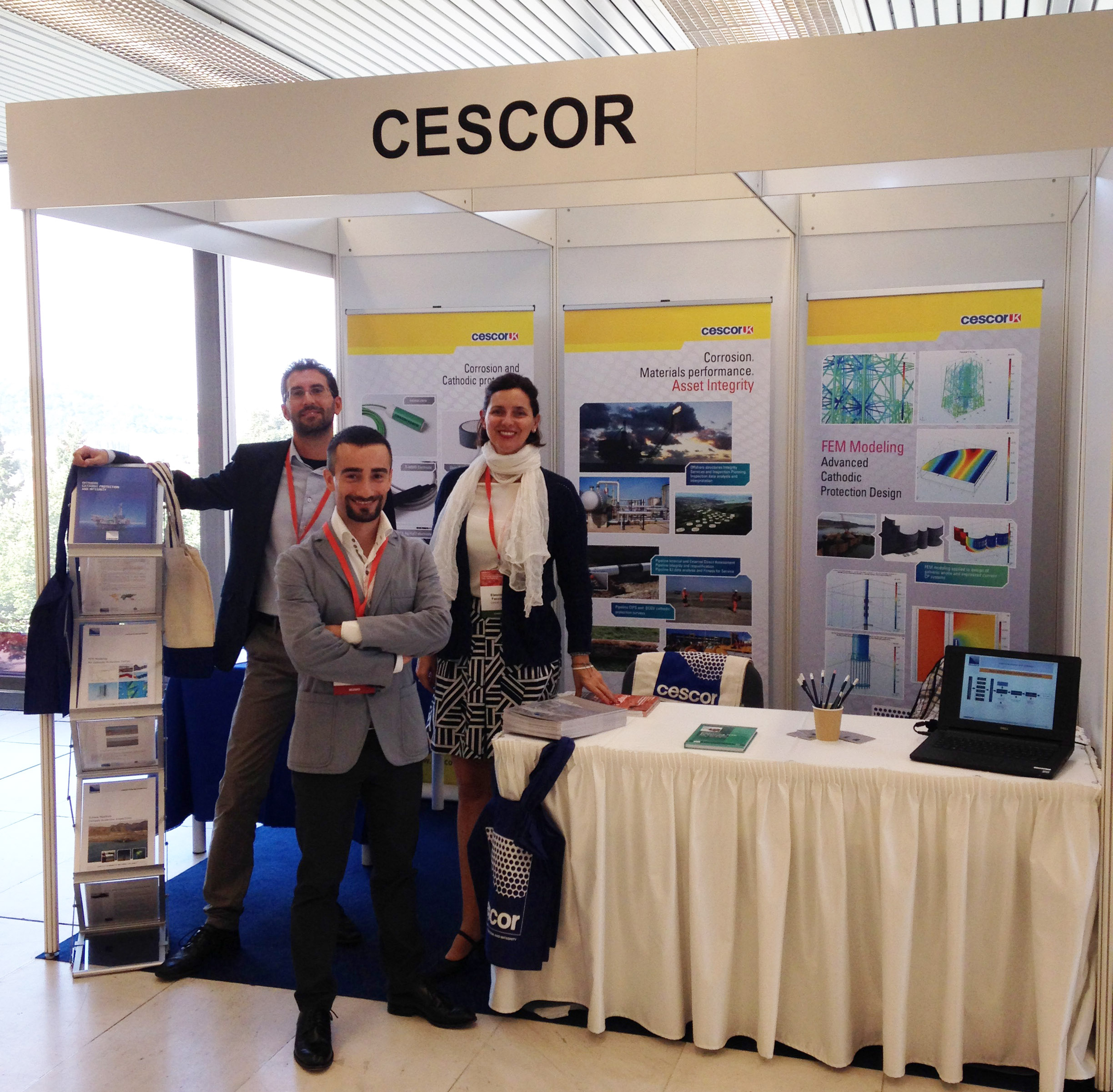Cescor's exhibition stand at Eurocorr 2017